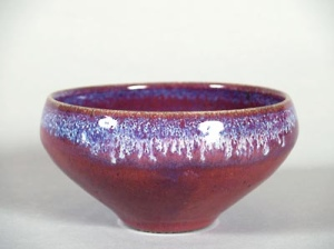 Wood fired copper red bowl: 2005,