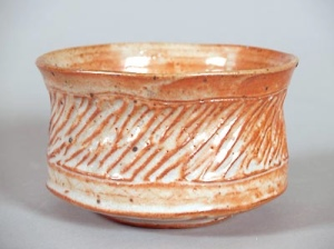 Wood fired carved bowl: 2005