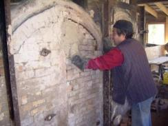 Alan Lacovetsky Mudding Up the Kiln