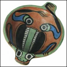 Carr. Klee Wyck Frog Bowl: c.1924-26, signed Klee Wyck, 4.4 x 18.7,. Heffel Spring 2011 catalogue