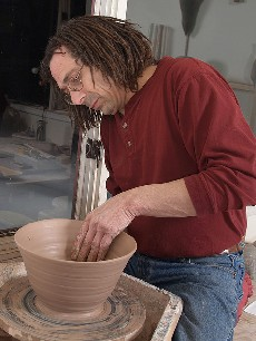 Alan Lacovetsky in his studio