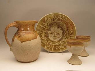 Carol Smeraldo. 1970s. Early untitled functional works. Stoneware.