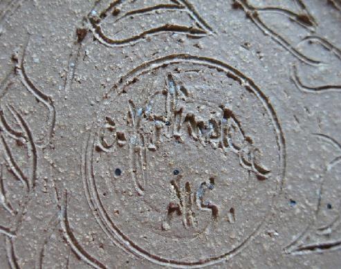 Carol Smeraldo 1969-72 engraved signature: CF signature.