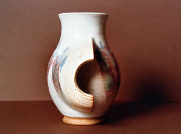 A-M Tremblay Pitcher. 1972-73 stoneware, 20.3 x 17.8 cm. Photo A-M Tremblay..