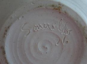 Carol Smeraldo 1975-1976 engraved signature: Smeraldo 76.