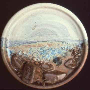 Carol Smeraldo. Non-Ashtray Ashtray. 1976-78.Stoneware? 20.3 cm.