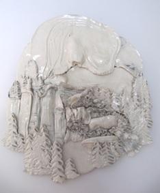 Carol Smeraldo. 1979-80. Winter. Porcelain, 71 x 78.7 cm.