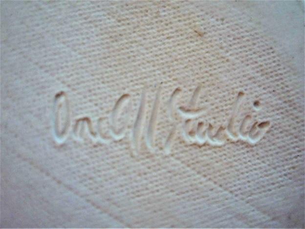 Carol Smeraldo c. 1984-87 engraved signature: One Off Studio for functional work.