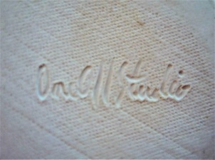 Carol Smeraldo c. 1984-87 engraved signature: One Off Studio for functional work.