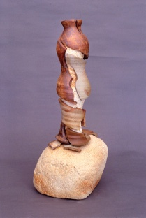 A-M Tremblay. Nymphe. 2003. 53x23x20 cm bétonique and stoneware. photo A-M Tremblay.