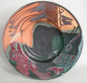 Large Trifoot Plate,  SouthWest Series.Permission of the artist. Photo by Judi Dyelle