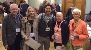 Les Manning with Brendan Tang, Susan Collett, Ann, Mortimer and Ann Roberts at the IAC General Assembly Dublin 2014