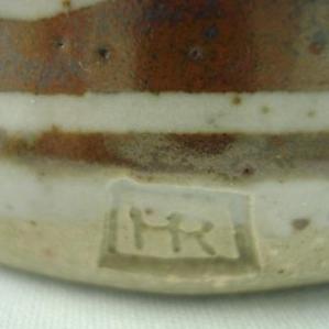 Robin Hopper chop on stoneware bowl