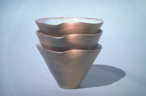 Wood-fired stacking bowls: 2003