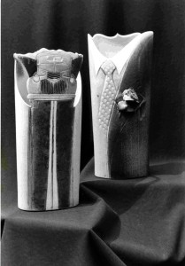 Harlan House, 46 Chev and Formal Dinner Vases. 1978-9. Courtesy of the Artist.