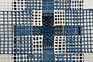 Detail, Blue Butterfly Box, 1991. Porcelain, plexi- tubing, (wire and beads as connectors). 13 x13 x 13 cm. Photo: Julien Beveridge