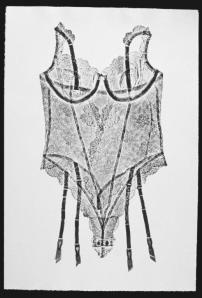 Underwraps 6, 2000. Relief print on paper. 76.5 x 51 cm. Photo: Gary Castle