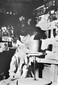 Peter Rupchan At His Pottery Wheel