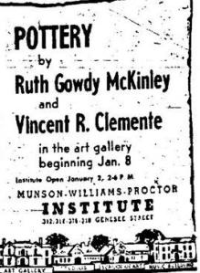 Utica Daily Press Exhibition Ad 1956