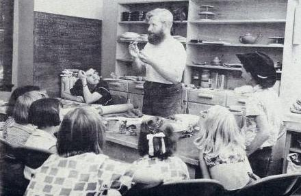 David Ross Teaching Children from A Way with Clay newsletter