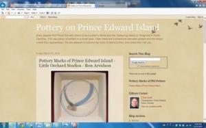 Pottery on Prince Edward Island Website