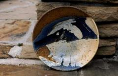 Ann Mortimer Salt fired plate, n.d.