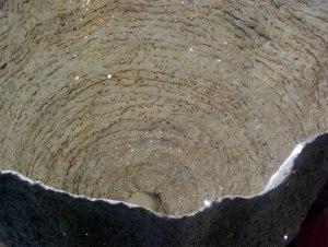 """Susan Collett. Hive, Interior detail, Moiré Series. 21""""H x 24 x 24"""