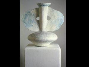 """Susan Collett. Vessel. 1990-95. 30""""H x 25""""W x 14""""D"""