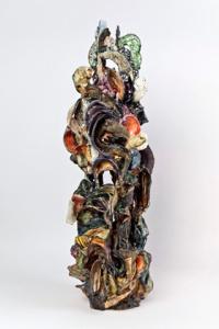 Susan Collett. Sonorous, Maze Series. 30H x 10W x 9D inches
