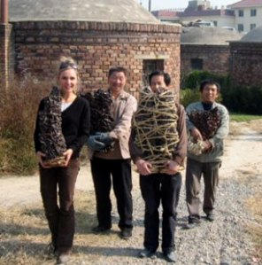 Susan Collett. Taking Work to the Museum, Fuping. 2007.