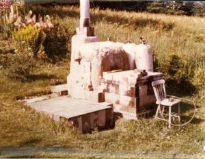 Enid Legros. Arcturus Kiln, Paspebiac summer 1971