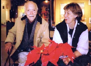 Connie Pike and mentor Stan Perrott at Art and Soul Gallery, High River, c.1998