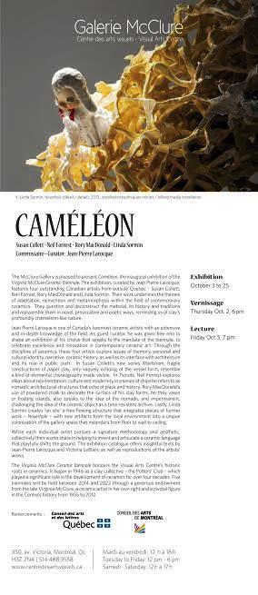 Cameleon Exhibit Invitation