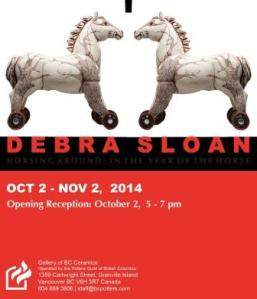 Debra Sloan Horsing Around Exhibition Invitation