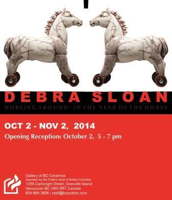 Debra Sloan Horsing Around Exhibition Invitation