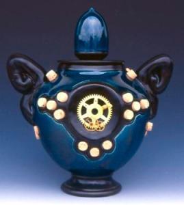 Brendan Tang. Blue Cog Urn, 2001