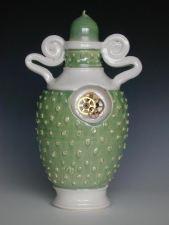 Brendan Tang. Cog Urn, Green, 2001