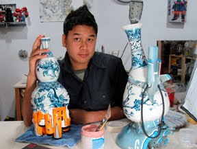 Brendan Tang In his studio, Nanaimo