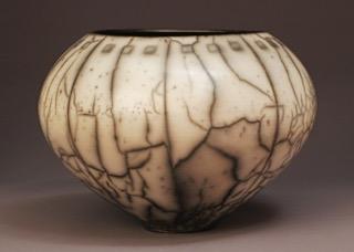 Judy Blake. [Name?] naked raku. [clay and combustibles?] [2010?]. [dimensions]