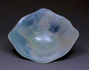 Judy Blake. Carved Rutile-glazed Bowl, 1996. 10.1 cm h x 35.6 cm w.