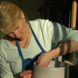 Judy Blake At Her Wheel