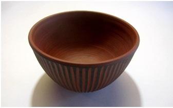 Gaetan Beaudin 1954 -73 North Hatley bowl. PhotoCollectoboce. Gilles Derome collection. L'Association des collectionneurs de céramique du Québec