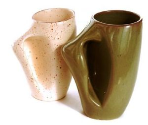 Gaétan Beaudin Decor 1946 - 53. Rimouski Cups with integrated handle. Canadian Design Resource