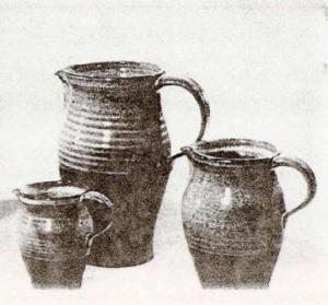 Gaétan Beaudin, 1961. Set of Glazed Pitchers. 1961 Canadian Guild of Potters Exhibition.