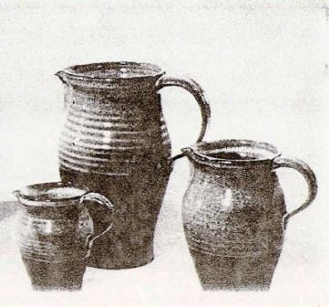 Gaétan Beaudin, 1961. Set of Glazed Pitchers. 1961 Canadian Guild of Potters Exhibition.