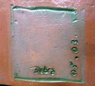Debra, 05 03, coloured glaze incised