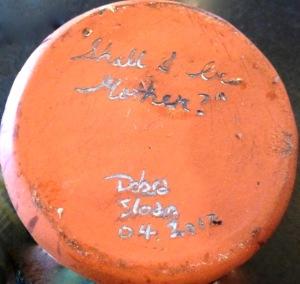 Debra Sloan 04 2012, coloured glaze incised