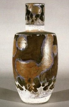 Walter Dexter. Raku Bottle 1983. 40 cm x 18 cm Les Graff Collection