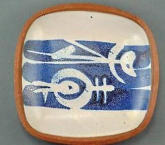 Walter Dexter. c. 1963-68. Shallow Dish. Kelowna period. Approx. 14.5 cm x 2 cm.