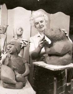 Jean Clarke Creating her Sculptures, nd. Nat Arch CGP C131971